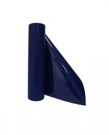 smooth transfer film for cutting machine in navy blue color