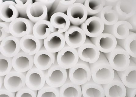 Insulation tubes to protect glass and sensitive corners.