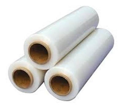 three rolls of stretch film for palletizing