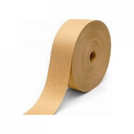 a roll of brown colored tape